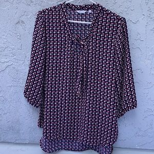 Reitmans Top Blouse With ribbon